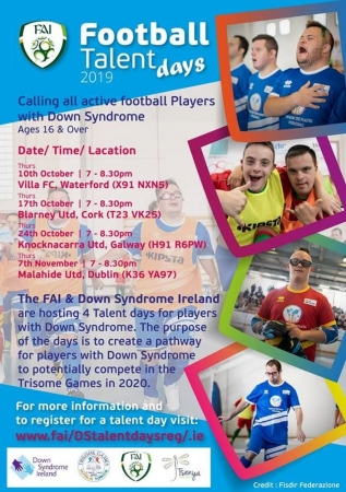 Football Talent Days for players with Down syndrome - FAI, DSI and Tsenya
