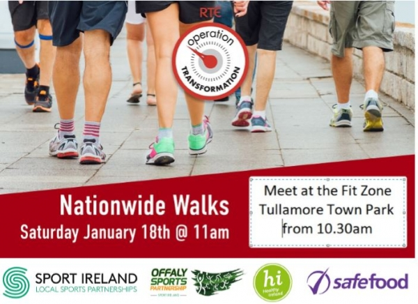 Join Operation Transformation for the national walk day on the 18th January in Tullamore