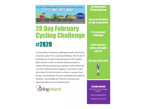 Cycling Ireland 28 Day Physical Activity Challenge
